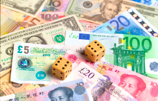 Forex currency pod stock image